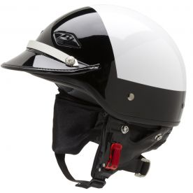 Police Motorcycle Helmet With Patent Leather Visor