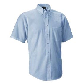 Oxford Dress Shirt, Light Blue, Short Sleeve