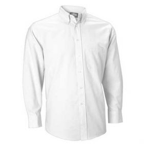 Oxford Dress Shirt, White, Long Sleeve
