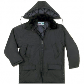Winter Parka With Removable Hood, Black