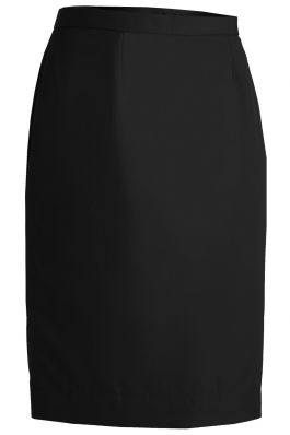 Flat Front Straight Skirt, Black