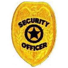 Security Officer Badge Patch Gold