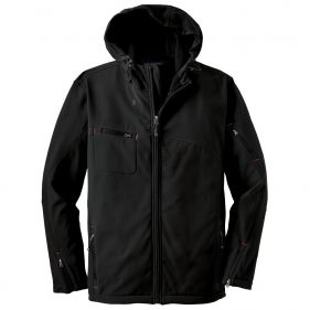 Soft Shell Jacket With Hood, Black