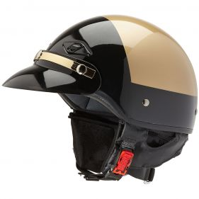 Custom Police Motorcycle Helmet Black-Gold