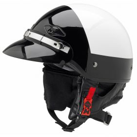 Police Motorcycle Helmet With Smoked Snap On Visor