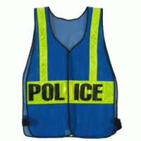 Safety Vest Blue with Reflective Police